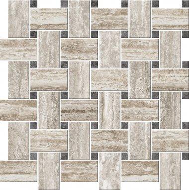 "Italian Icon Series Tile Irregular Blend 16"" x 16"" - Caldo"