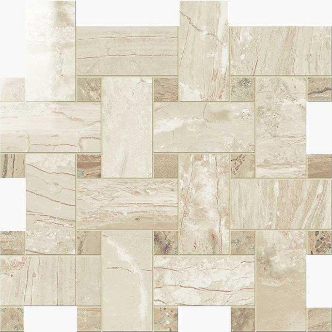 Novabell Imperial Tile Basketweave 12 Quot X 12 Quot Crema