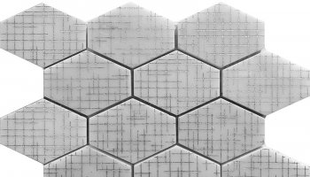 Artistic Hex 3 - Hexagon Mosaic Tile - 11.6