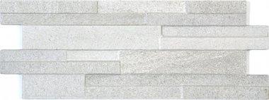 """Eco-Stone Series Tile Muretto Decor 6"""" x 16"""" - Bianco"""