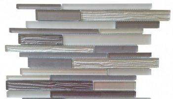 Glass Tile Wood Look Baguette Mosaic 12