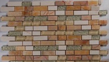 Fusion Glass Tile Mosaic Brick - Chihuahuan