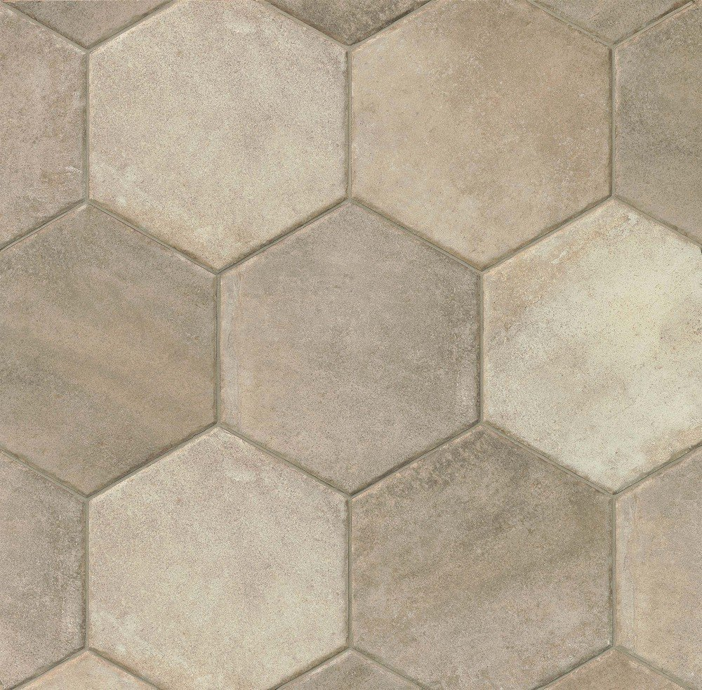 Sant Agostino Native Hexagon Tile 8 Quot X 8 Quot Grey