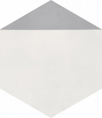 "Bati Orient Cement Tile Hexagon Modern 8"" x 9"" - Off White/Grey"