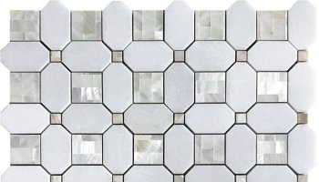 Alaska Alaskan Pearl Mosaic Tile - 12.2
