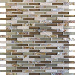 Milstone Collage Mediterranean Glass Tile Mosaic 0 4 Quot X