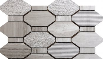 Bali Pacific Rim - Hexagon Mosaic Tile - 11