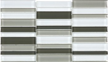 Bliss Element Glass Tile Straight Stacked Mosaic 1
