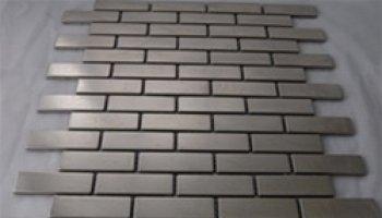 Metal Mosaics Tile Brick Classic 1/2