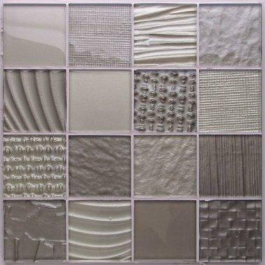 """Montage Glass Tile 12.1"""" x 12.1"""" - Monochrome"""