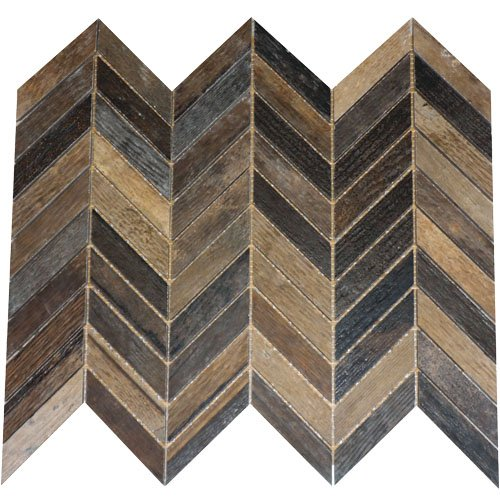 Fioranese - Chevron Chic Tile Chevron Mosaic - Burnt