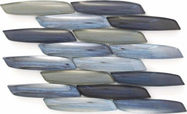 "Streamline Glass Tile 15.4"" x 10.6"" - Lynx"