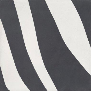 """Bati Orient Cement Tile Decor Modern Zabra 8"""" x 8"""" - Antracite/Off White"""