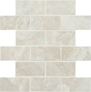 "Mirasol Tile Brick Joint Mosaic 2"" x 4"" - Silver Marble"