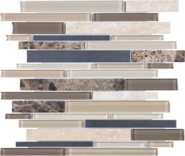Bliss Stainless Glass Tile Mosaic - Woodland Park