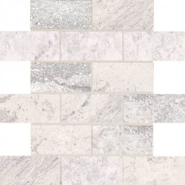 "Laurel Heights Tile Brick Joint Mosaic 2"" x 4"" - Gray Summit"