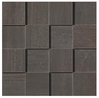 Mark Mosaic 3D Polished Tile 3 x 3 - Tobacco