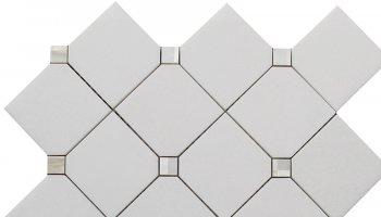 Alaska Pearl Square Mosaic Tile - 11.4