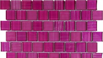 Glass Tile Linear Brick Glossy 12