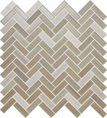"Serentina Tile Herringbone 11 1/2"" x 12 3/4"" - Accord"