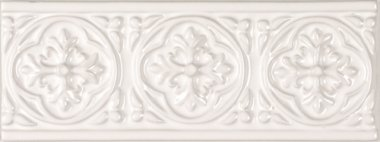 "Studio Tile Palm Beach Deco 3"" x 7.8"" - Snow Cap"