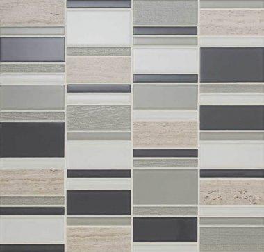 "Serentina Tile Block Random 11 7/8"" x 12 1/4"" - Tranquility"