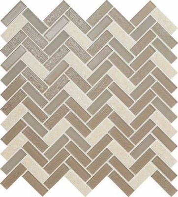 "Serentina Tile Herringbone 11 1/2"" x 12 3/4"" - Composure"