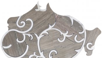 Water Jet Chateau - Tennessee Taupe and Asian Statuary Line