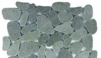 Reconstituted Pebble XL Stone Interlocking Mosaic Tile - 12
