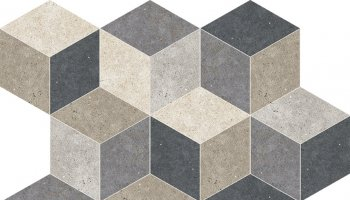 City Lights Tile Cube Mosaic 12