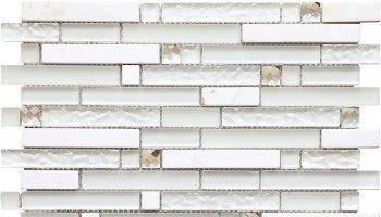 Alaska Icicle Mosaic Tile - 11.8