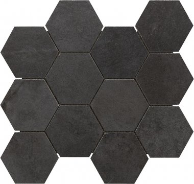 "Motion Hex Mosaic 2"" x 2"" - Black"