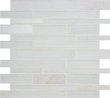 "Serentina Tile Random Interlocking 11 3/4"" x 13 1/4"" - Bliss"