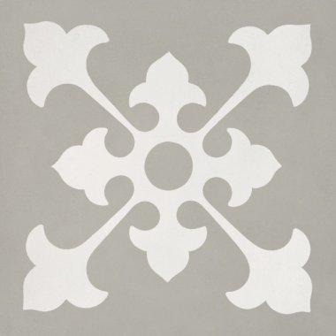 """Bati Orient Cement Tile Decor Classic 8"""" x 8"""" - Off White/Taupe"""