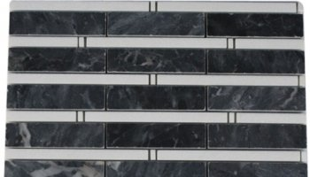 Bamboo Stone Tile - Dark Bardiglio and Thassos