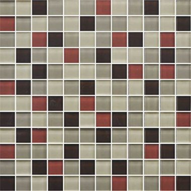 "Color Appeal Tile Mosaic Blend 1"" x 1"" - Earth Fire"