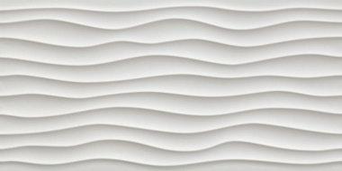 """3D Wall Design Dune Tile 16"""" x 32"""" - Matte White"""