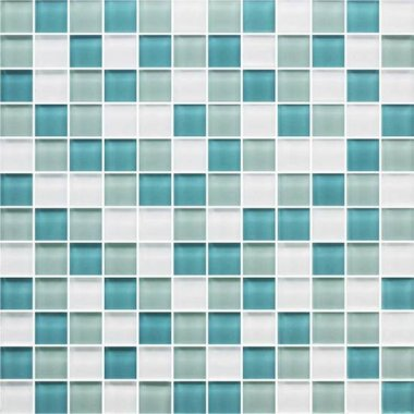 "Color Appeal Tile Mosaic Blend 1"" x 1"" - Sea Pearl"