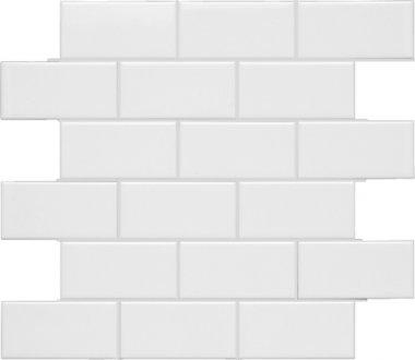 "Neri Tile Flat Mesh 2"" x 4"" - White"