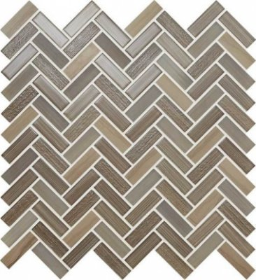 "Serentina Tile Herringbone 11 1/2"" x 12 3/4"" - Solitude"