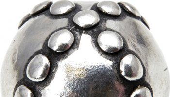 Chalice Knobs Beaded Large Criss Cross Round Knob - Chalice