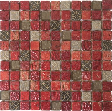 Bati Orient Marble Stone Tile Mosaic 1 Quot X 1 Quot Mix Red Grey