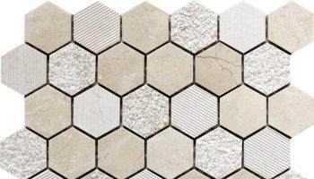 Bali Indi - Hexagon Mosaic Tile - 11.8