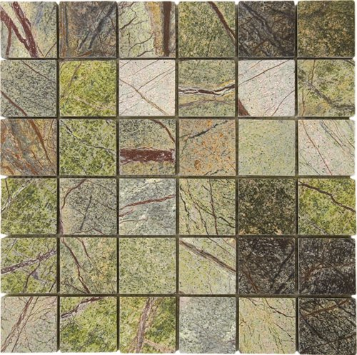 Marble Stone Tile Mosaic Polished 2 X Forest Green