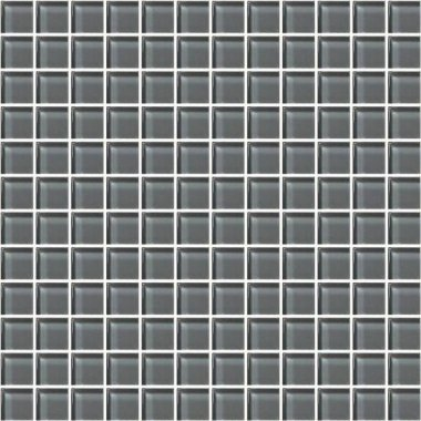 "Color Appeal Tile Mosaic 1"" x 1"" - Charcoal Gray"