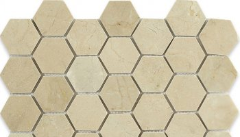 Crema Marfil Tile Hexagon 2