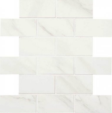 "Mirasol Tile Brick Joint Mosaic 2"" x 4"" - Bianco Carrara"