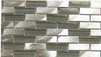Aluminum & Silkscreened Glass Tile 1/2