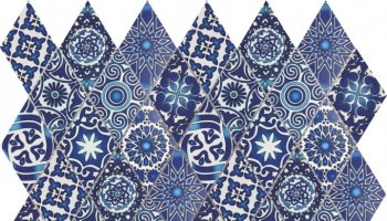 Bati Orient Cement Tile Patchwork Diamond 11.8