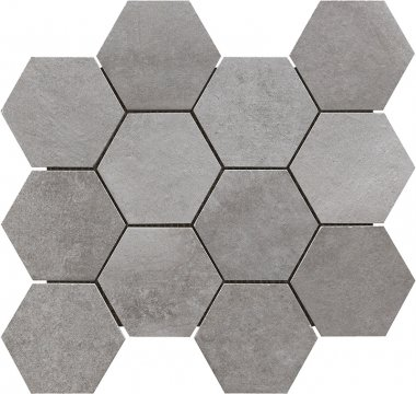 "Motion Hex Mosaic 2"" x 2"" - Grey"